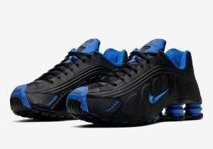 "NIKE - Shox R4 ""Black/Game Royal"" -NOVO-"
