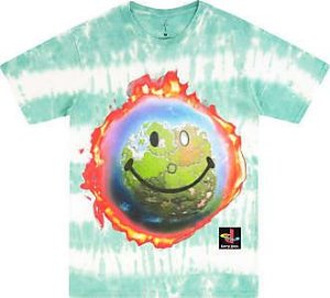 "!TRAVIS SCOTT - Camiseta The Scotts World Tie Dye ""Azul"" -USADO-"