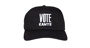 """!KANYE WEST - Boné Vote Kanye """"Preto"""" -NOVO-"""