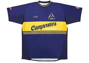 "PALACE - Camiseta Playwright ""Azul/Amarelo"" -NOVO-"