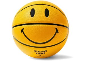 """CHINATOWN MARKET -  Bola de Basquete Smiley """"Amarelo"""" -NOVO-"""