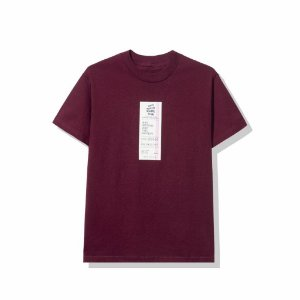 "ANTI SOCIAL SOCIAL CLUB - Camiseta Read Receipts ""Vinho"" -NOVO-"
