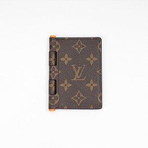 "LOUIS VUITTON - Porta Cartão Pocket Organizer Monogram Solar Ray ""Marrom/Laranja"" -USADO-"
