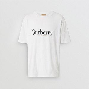 "BURBERRY - Camiseta Embroidered Archive ""Branco"" -NOVO-"