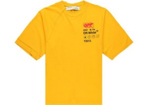 "OFF-WHITE - Camiseta Industrial Y013 ""Amarelo"" -NOVO-"