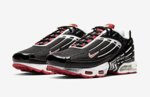 "NIKE - Air Max Plus 3 ""Black/White/Track Red"" -NOVO-"