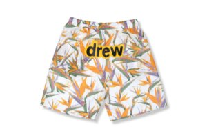 "DREW HOUSE - Bermuda Mesh Birds of Paradise ""Branco"" -NOVO-"
