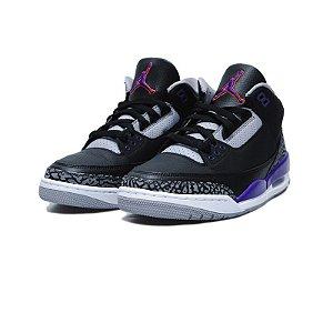 "NIKE - Air Jordan 3 Retro ""Court Purple"" -NOVO-"