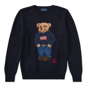"POLO RALPH LAUREN - Sweater Polo Bear USA ""Marinho"" -USADO-"