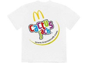 "TRAVIS SCOTT x MCDONALD'S - Camiseta Cj Smile ""Branco"" -NOVO-"