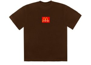 "TRAVIS SCOTT x MCDONALD'S - Camiseta Sesame III ""Marrom"" -NOVO-"