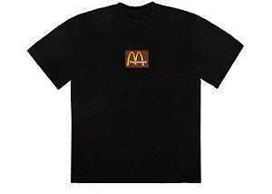"""TRAVIS SCOTT x MCDONALD'S - Camiseta Sesame Inv """"Preto/Marrom"""" -NOVO-"""