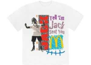 "TRAVIS SCOTT x MCDONALD'S - Camiseta Jack Smile ""Branco"" -NOVO-"