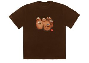 "TRAVIS SCOTT x MCDONALD'S - Camiseta Squad III ""Marrom"" -NOVO-"