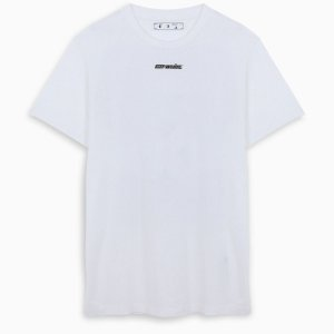 "OFF-WHITE - Camiseta Marker Slim ""Branco/Azul"" -NOVO-"