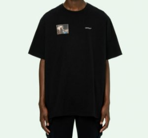 "OFF-WHITE - Camiseta Caravaggio Angel Over ""Preto"" -NOVO-"
