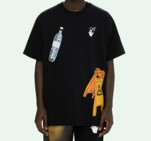 "OFF-WHITE - Camiseta Pascal Medicine Over ""Preto"" -NOVO-"