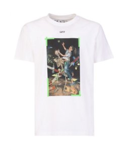 "OFF-WHITE - Camiseta Pascal Print Over ""Branco"" -NOVO-"
