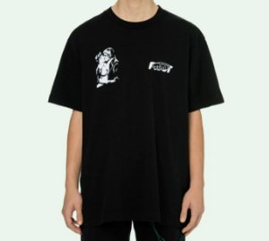 "OFF-WHITE - Camiseta Kiss 21 Over ""Preto"" -NOVO-"