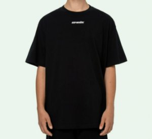 "OFF-WHITE - Camiseta Marker Over ""Preto/Azul"" -NOVO-"