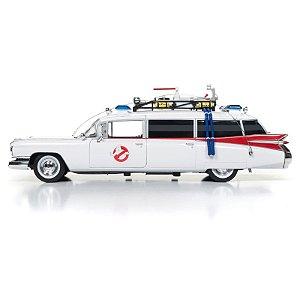 SILVER SCREEN MACHINES - Carro miniatura Ghostbusters ECTO-1 1959 Cadillac -NOVO-