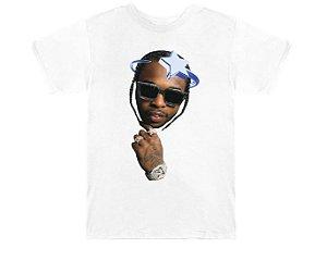 "VLONE x POP SMOKE - Camiseta Halo ""Branco"" -NOVO-"