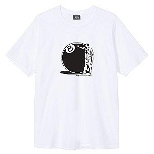 """STUSSY - Camiseta 8 Ball Man """"Branco"""" -NOVO-"""