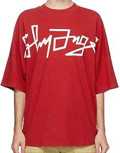 """PALM ANGELS - Camiseta Desert Over Logo """"Vermelho"""" -NOVO-"""