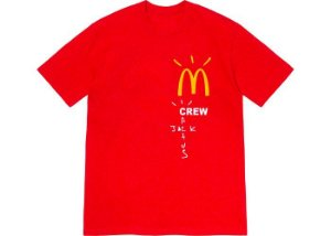 "TRAVIS SCOTT x MCDONALD'S - Camiseta Crew ""Vermelho"" -NOVO-"