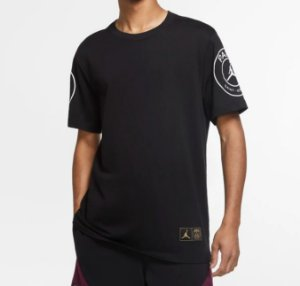 "NIKE x PSG - Camiseta Air Jordan PSG Logo ""Preto"" -NOVO-"