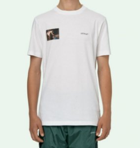 "OFF-WHITE - Camiseta Caravaggio Angel Slim ""Branco"" -NOVO-"