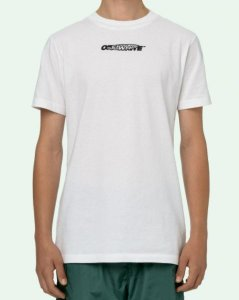 "OFF-WHITE - Camiseta Hand Painters Slim ""Branco"" -NOVO-"