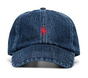 "POLO RALPH LAUREN - Boné Baseball ""Denim"" -NOVO-"