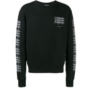 "OFF-WHITE - Moletom Crewneck Diagonal ""Preto"" -NOVO-"
