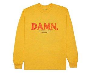 "KENDRICK LAMAR - Camiseta Manga Longa Kung Fu Kenny Damn ""Amarelo"" -NOVO-"