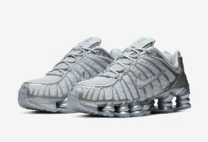 "NIKE - Shox TL ""Pure Platinum/ Chrome"" -NOVO-"