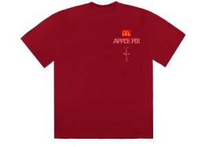 "TRAVIS SCOTT x MCDONALD'S - Camiseta Apple Pie ""Vermelho"" -NOVO-"