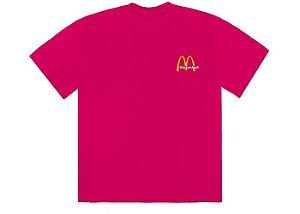 "TRAVIS SCOTT x MCDONALD'S - Camiseta Vintage Action Figure II ""Rosa"" -NOVO-"