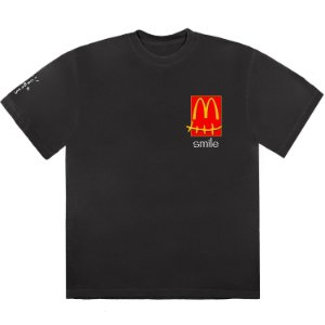 "TRAVIS SCOTT x MCDONALD'S - Camiseta Smile ""Preto"" -NOVO-"