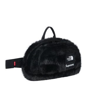"SUPREME x THE NORTH FACE - Pochete Waist Faux Fur ""Preto"" -NOVO-"
