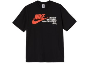 "NIKE x STUSSY - Camiseta International Beach Crew ""Preto"" -NOVO-"