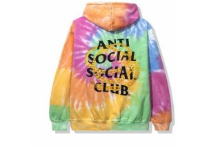 "ANTI SOCIAL SOCIAL CLUB - Moletom Good Tie Dye ""Rainbow"" -NOVO-"