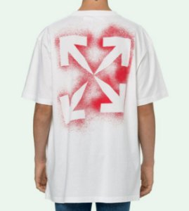 "OFF-WHITE - Camiseta Stencil Over ""Branco"" -NOVO-"