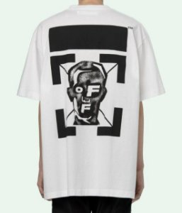 "OFF-WHITE - Camiseta Masked Face Over ""Branco"" -NOVO-"