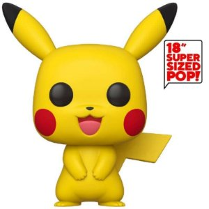 FUNKO POP! - Boneco Super Sized 46 cm: Pokemon Pikachu #01 -NOVO-