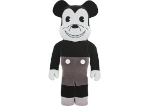 "MEDICOM TOY x DISNEY - Boneco Bearbrick Mickey Mouse Vintage Version 1000% ""Preto/Branco"" -NOVO-"