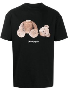 "PALM ANGELS - Camiseta Bear ""Preto"" -NOVO-"