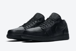 "NIKE - Air Jordan 1 Low ""Triple Black"" -NOVO-"