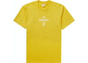 "SUPREME - Camiseta Box Logo Cross ""Amarelo"" -NOVO-"