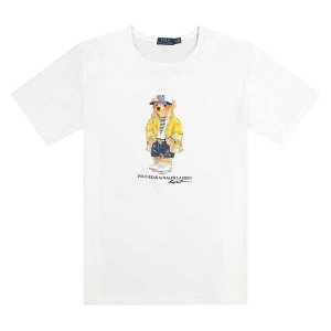 "POLO RALPH LAUREN - Camiseta Bear Yellow Jacket ""Branco"" -NOVO-"